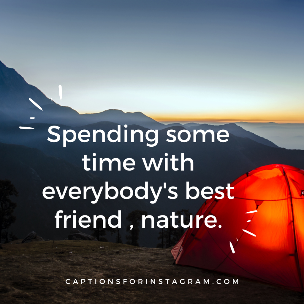 Spending some time with everybody best friend , nature.
