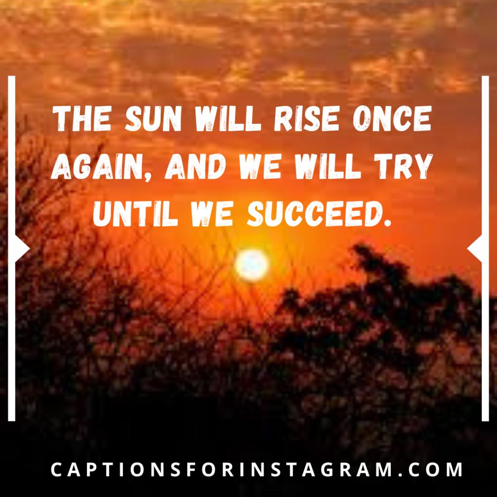 best sunrise captions for instagram